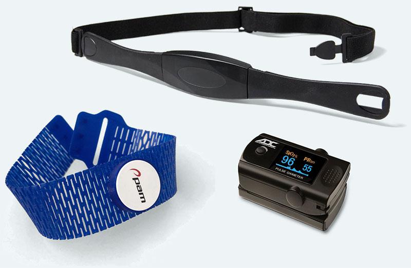 Atris-band met sensor, Saturatiemeter en hartslagband