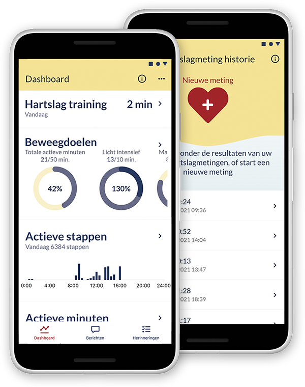 Screens Atris patienten app